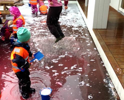 Vannbad i Drømmehagen barnehage